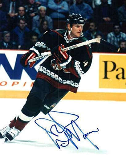 - Autographed Signed Dave Manson Phoenix Coyotes 8x10 Photo - Certified Authentic