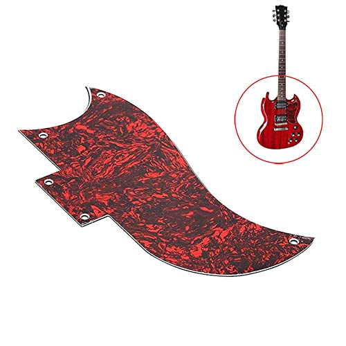 - Tulas Guitarpickguard Good Quality 3-ply Pickguard for Gibson SG Standard Guitar Black/Red for Option (Red)
