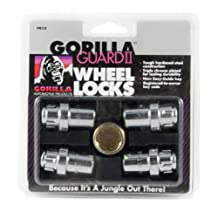 Gorilla Automotive 63631N Chrome Standard Mag Gorilla Guard II Wheel Locks-Set of 4 (12mm X 1.50 Thread Size)