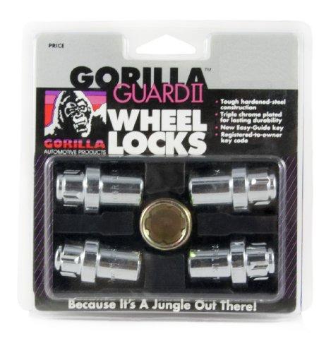 Gorilla Automotive 63631N Chrome Standard Mag Gorilla Guard II Wheel Locks - Set of 4 (12mm x 1.50 Thread ()