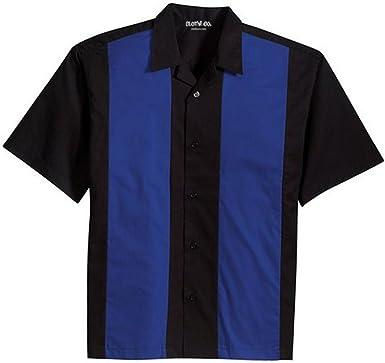 Clothe Co. Ropa Co. Camisa Campamento de la Retro de Bolos para Hombre
