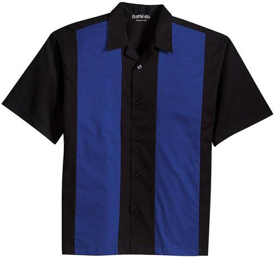 Clothe Co. Retro Camisa de Campamento de Bolos para Hombre - Azul - Medium: Amazon.es: Ropa y accesorios