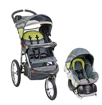 Baby Trend Expedition Swivel Jogging Stroller Infant Car Seat Travel System
