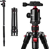 "Tycka Lightweight 65"" Aluminum Travel Tripod, Portable Camera Tripod with 360° Panorama Ball Head, 1/4 Screw Fast Quick Release Plate, Ideal for Travel and Work"