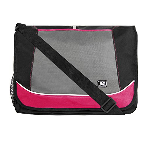 SumacLife Messenger Bag fits Tablets and Laptops up to 15.6 inch (Magenta)