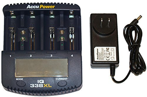 IQ-338XL Universal LCD Smart Charger / Analyzer (Charges Li-Ion, NiCd & NiMH) AccuPower