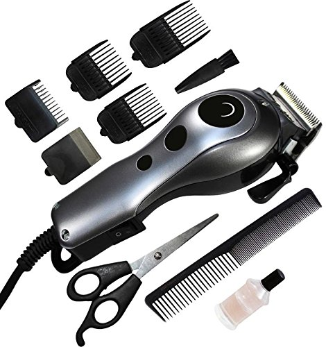 Brite BHT-1400 Professional Electric Hair Trimmer Heavy Duty Grooming Set (Silver or MutliColor)
