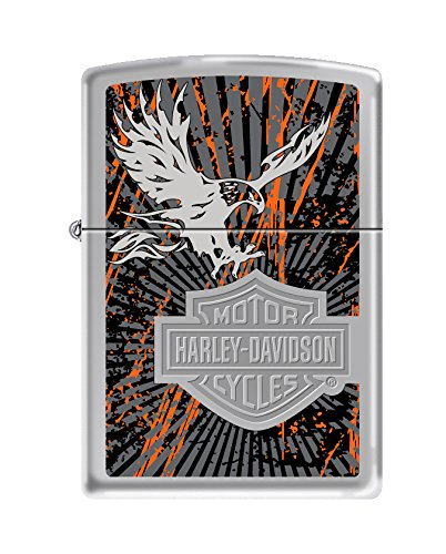Zippo Harley-Davidson Eagle High Polish Chrome Pocket Lighter ()