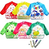 Coceca 6 Pcs Toddler Smock Baby Bibs Long Sleeve Bibs...