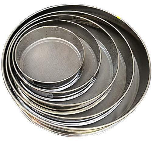 10-200 Mesh Screen Full Stainless Steel Sieve Mesh Vibrating Screen Accessories Use for Home,Kitchen,Baking,Flour,Corn, Sugar, Beans Multipurpose Mesh Screen (Diameter: 3.9inch)