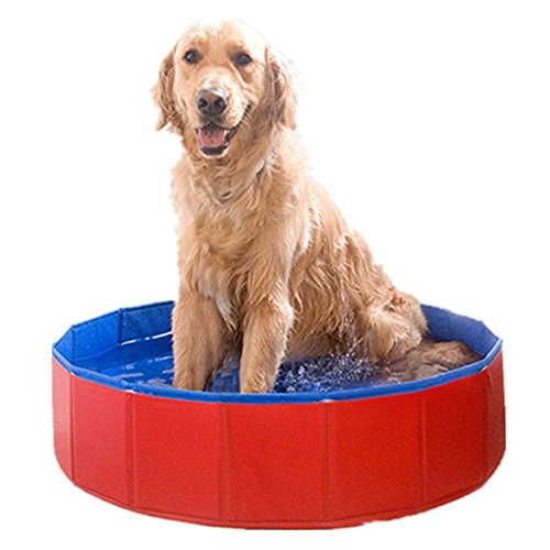 foldable-pvc-dog-swimming-pool-bathing-tub-bathtub-pet-cats-washer-32inchd-x-8inchh-by-onemore-choic