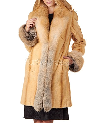 Frr Classic Sheared Mink Fur Coat - Golden Mink Fur Coat