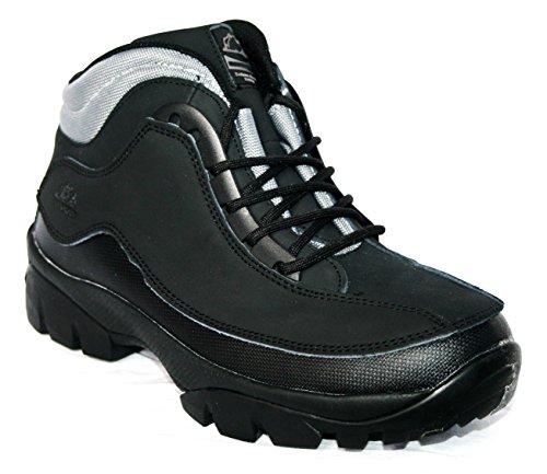 Groundwork - Calzado de protección de Piel para hombre Black/black