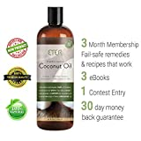 ETER Fractionated Coconut Oil for Hair Skin Body - Carrier Oil for Essential Oils in Aromatherapy - Best Massage Oil - Perfect Skin Care - Basic Ingredient in Most Home Remedies - 16oz - 3 Bonuses