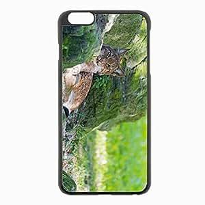 Iphone 5C Black Hardshell Case 5.5inch - lynx grass rocks moss predator Desin Images Protector Back Cover WANGJING JINDA