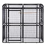Sliverylake Large Heavy Duty Bird Cage Big Walk in Cages Aviary Parrot Macaw Conure Lovebird Pet House Finch Parakeet Cockatiel Macare Birdcages Black