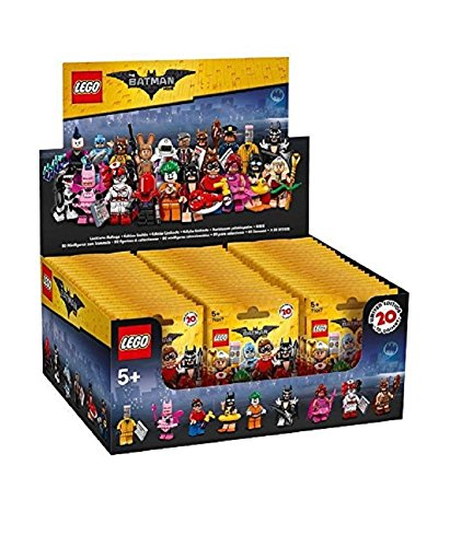 Lego Batman Movie Series Sealed Box Case of 60 Blind Bags Minifigures 71017 (All Batman Characters)