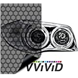 "VViViD Extra-Wide Headlight Taillight Vinyl Wet Tint Wrap 16"" x 60"" Roll (Hex+ Light Smoke)"