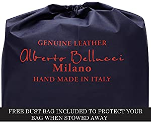 Luggage Depot USA, LLC Men's Alberto Bellucci Italian Leather Double Compartment Laptop Messenger Bag, Honey, One Size by Luggage Depot USA, LLC