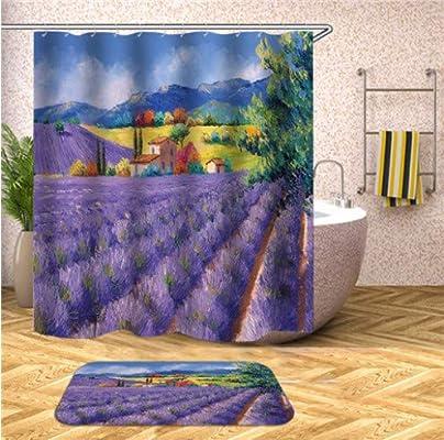 Coloridas imágenes de árboles, mamparas de baño, Accesorios de ...