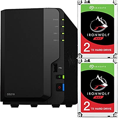 Synology DS218-2-Bay DiskStation Bundle with SEAGATE NAS HDD