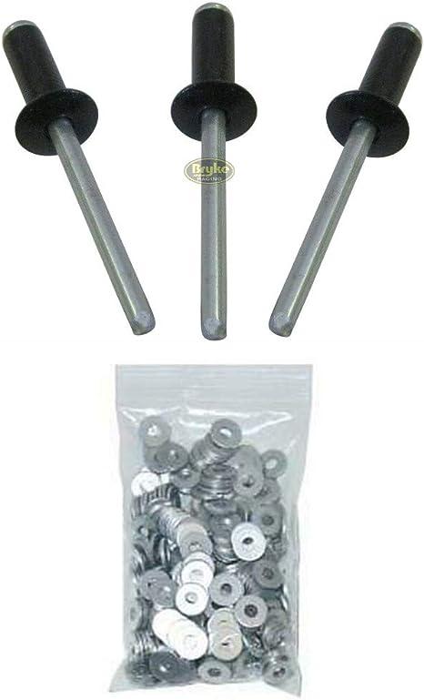 "Pro Series 3//16 Aluminum Rivets pop Rivet Small Head Black 250 Box 1//4/"" to 3//8/"""