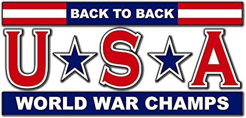 MAGNET USA - Back to Back World War Champs 5.5 Inch Magnetic Sticker Decal (Back To Back World War Champs Sticker)