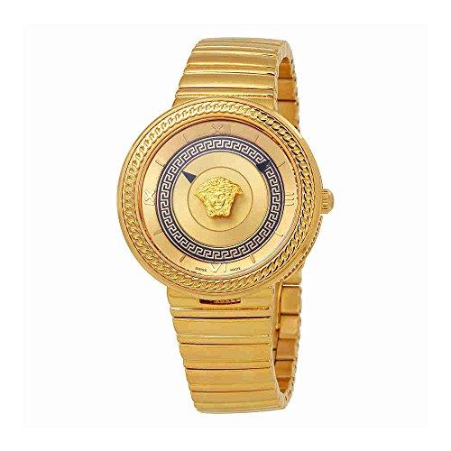 Versace Women's VLC090014 V-METAL ICON Analog Display Swiss Quartz Gold Watch