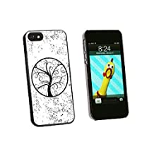 Graphics and More Tree of Life Distressed Snap-On Hard Protective Case for iPhone 5/5s - Non-Retail Packaging - Black