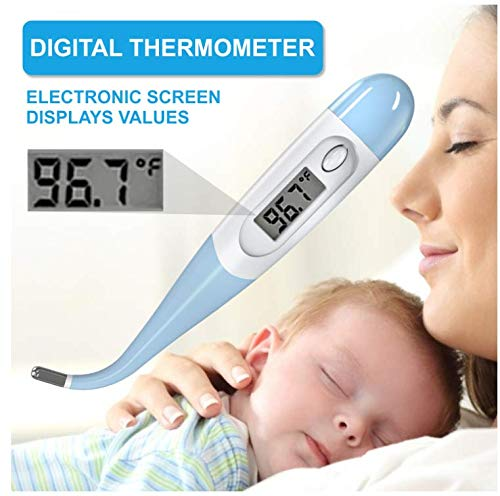 Thermometer for Adults, Flexible Electronic Thermometer with Fever Alarm and Memory Function, Quick and Accurate Measurement OralThermometer, Suitable for Newborns, Children and Adults