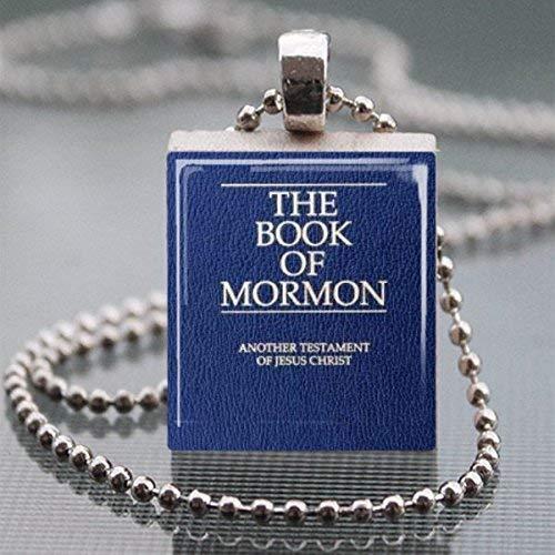 The Book Of Mormon Scrabble Tile Pendant Necklace - Wearable Art
