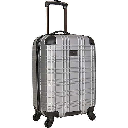 Ben Sherman Nottingham 20-Inch Carry-On Lightweight Durable Hardshell 4-Wheel Spinner Cabin Size Luggage, Light Silver ()