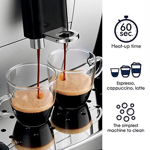 DeLonghi ECAM22110SB Compact Automatic Cappuccino, Latte and Espresso Machine (Renewed)