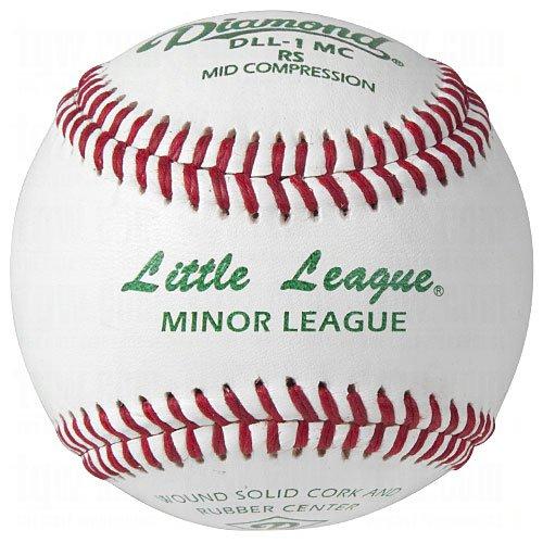 Diamond Dll-1Mc Little League Leather Baseballs 12 Ball Pack
