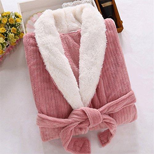 ZLR Inverno carino sexy camicia da notte signore a maniche lunghe vestiti per la casa accappatoi ispessimento caldo accappatoio ( dimensioni : M )