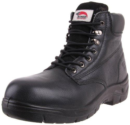 Avenger 7212 6 Antidérapant En Cuir Eh Safety Boot Toe De Travail Noir