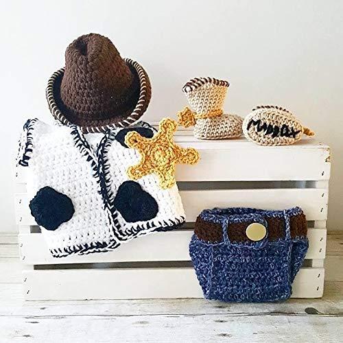 Amazoncom Crochet Baby Woody Toy Story Set Cowboy Hat Beanie Vest