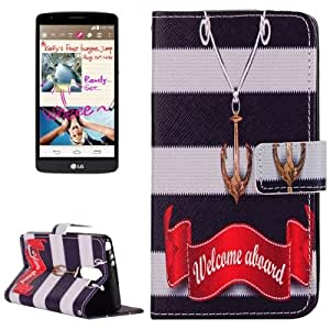 Words and Symbol Pattern Funda Horizontal con tapa piel con Holder Case Cover & Card Wallet Slots & para LG G3 Stylus D690 /