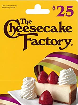The Cheesecake Factory Gift Card $25