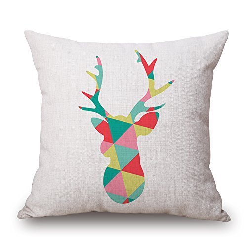 Jones Tones Foil (Alphadecor 16 X 16 Inches / 40 By 40 Cm Deer Throw Pillow Covers ,twin Sides Ornament And Gift To Sofa,kids Room,lover,bedroom,seat,home Office)