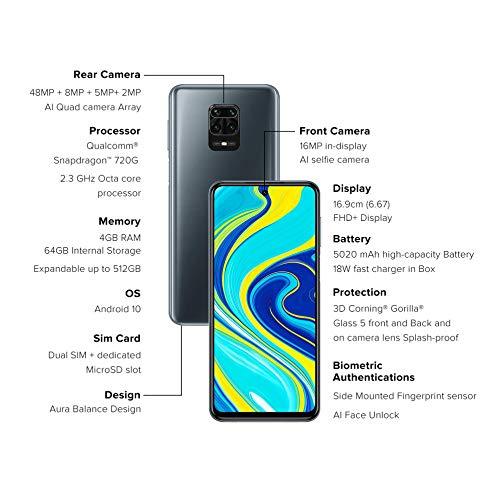 Redmi Note 9 Pro (Interstellar Black, 4GB RAM, 64GB Storage)- Latest 8nm Snapdragon 720G & Alexa Hands-Free Discounts Junction