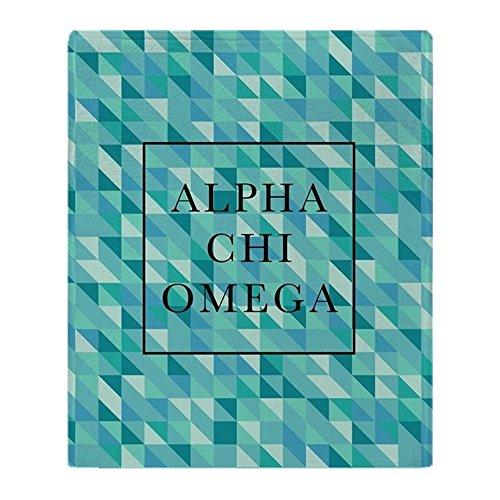 CafePress - Alpha Chi Omega Geometric FB - Soft Fleece Throw Blanket, 50