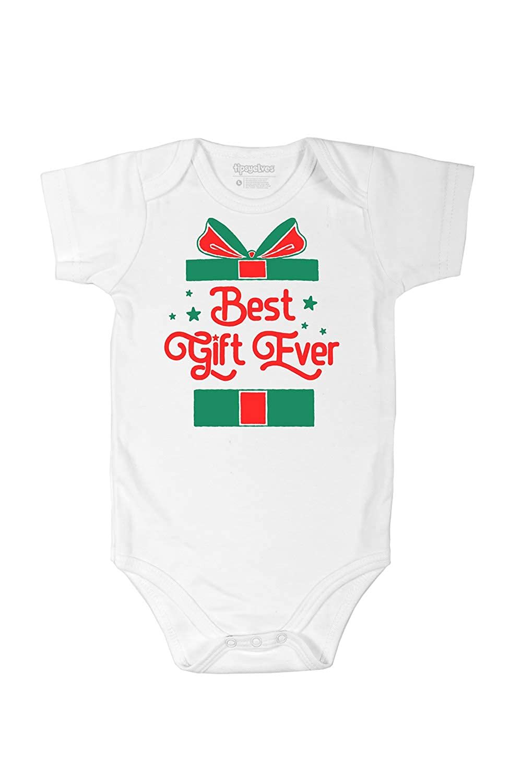Tipsy Elves Cute Baby Christmas Clothing Romper - One Piece Funny Holiday Xmas Clothing Newborn TE-BABYXMASON1