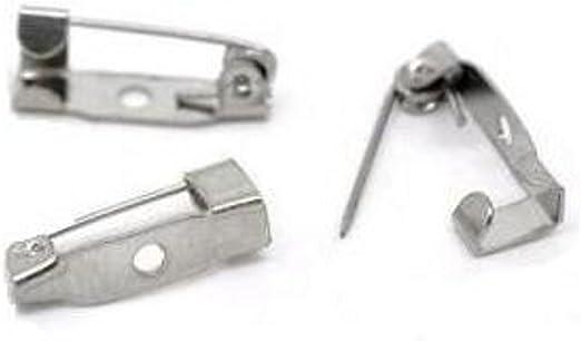 Barra de bloqueo Broche Pin Broche de cierre de seguridad trasera para Manualidades Joyería Haciendo 100 un