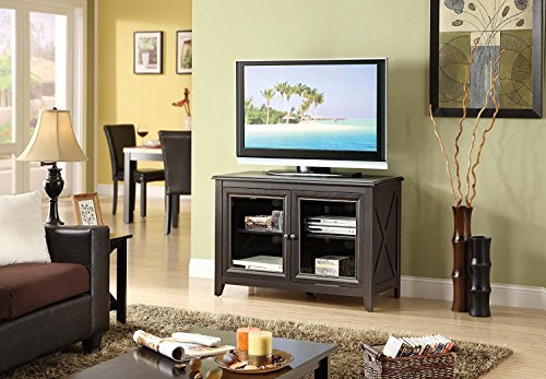 Best TV Stand Entertainment Console Rack Rear for up to 44