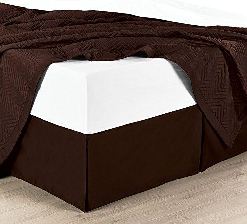 chocolate bed skirt cal king - 3