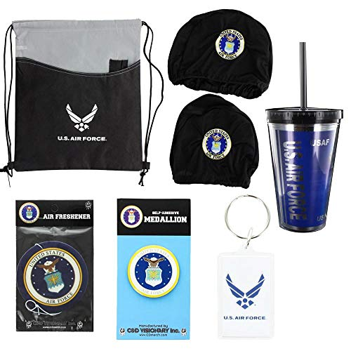 U.S. Air Force USAF 6 Piece Gift Set w/Medallion, Tote Bag, Keychain, and More