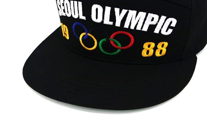 f7e27de0d5b Muan 5 Panel 1988 Seoul Olympic Rings Mascot Hodoli Bigbang GD Tae Yang Snapback  Hat (1. Olympic Rings) at Amazon Men s Clothing store