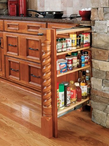 Rev-A-Shelf RS432.BF.6C.18 6 in. Wood Base Filler with Wood Shelves