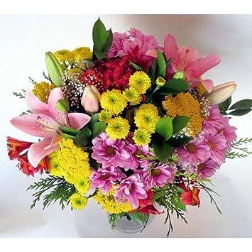 eae3f291887f Ramo de flores variadas-FLORES NATURALES-ENTREGA EN 24 HORAS: Amazon.es:  Jardín